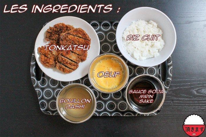Ingrédients - Katsudon - Itadakimasu.fr