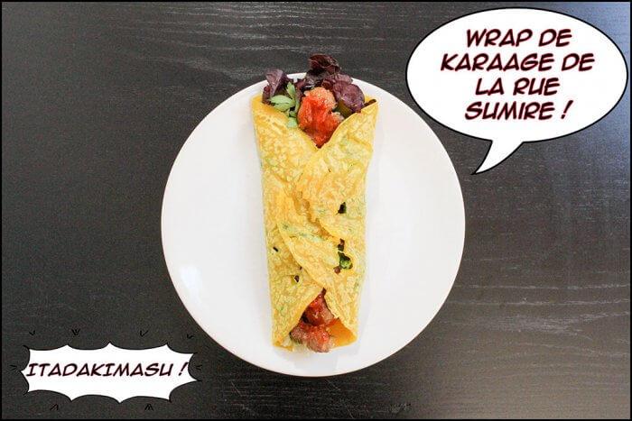 Wrap de Karaage - Itadakimasu.fr