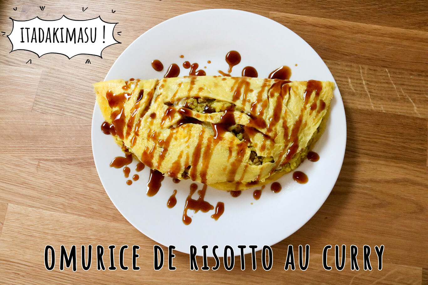 Omurice de risotto au curry - Food Wars (Shokugeki no Sôma)